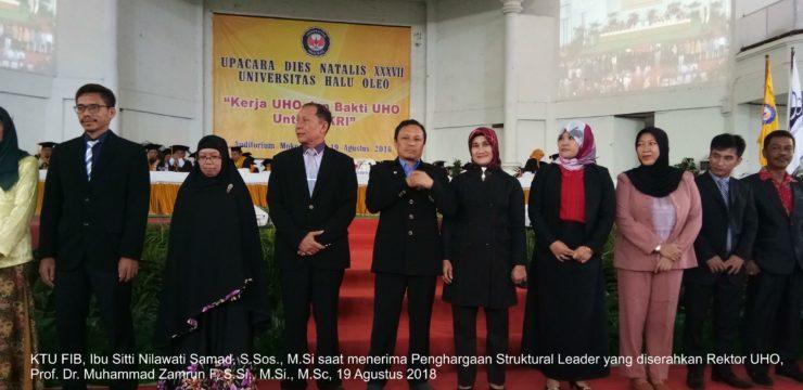 KTU FIB PEROLEH PENGHARGAAN STRUCTURAL LEADER