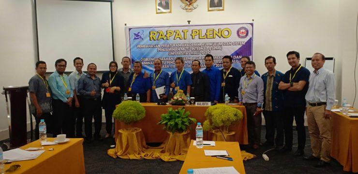 LPPMP Gelar Rapat Pleno Pembahasan Peraturan Akademik, Kurikulm dan SPMI UHO